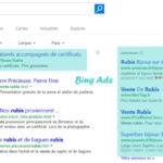 Divers emplacements pour les Annonces Bing Ads